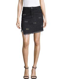 Embellished Crombie Skirt