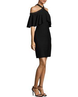 Crisscross Cold Shoulder Dress