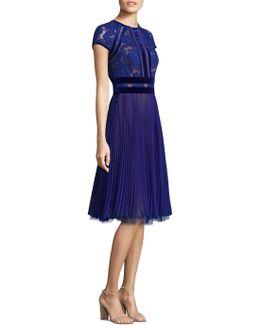 Lace Chiffon A-line Dress