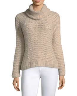 Nepenthe Cropped Turtleneck Sweater