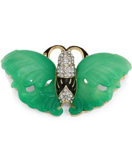 Jade Wing Butterfly Pin