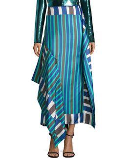 Side-tie Silk Skirt