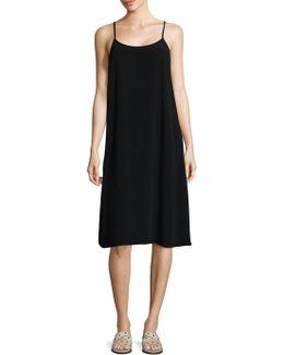 Crinkle Crepe Camisole Dress