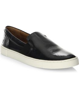 Ivy Slip-on Leather Sneakers
