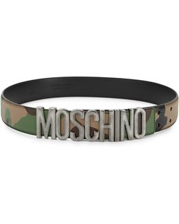 Camouflage Leather Belt