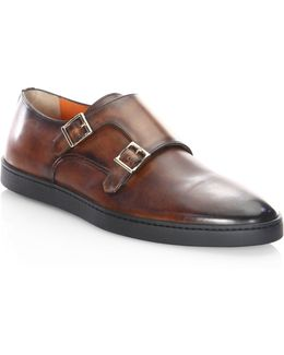Fremont-2 Leather Monk-strap Oxfords