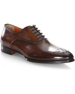 Hand-stitched Leather Oxfords