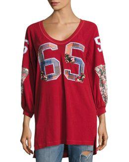 Varsity Sweatshirt Top