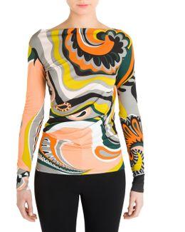 Paisley Silk Jersey Top