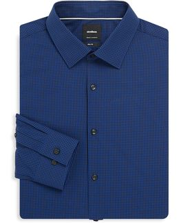 Checkered Cotton Regular-fit Dress Shirt