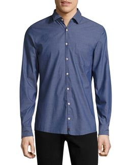 Samias Cotton Casual Button-down Shirt