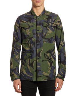 Vodan Camouflage Cotton Worker Button-down Shirt