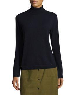 Sequined Trim Turtleneck Sweater