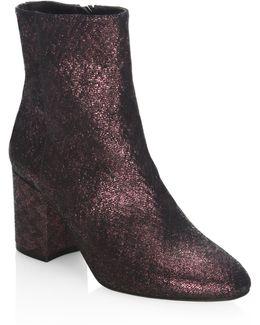 Jourdan Woven Metallic Leather Ankle Boots