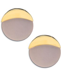 Concrete Jungle Disc Stud Earrings