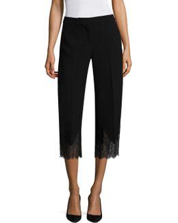 Lace Combo Gaucho Pants