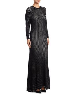 Lurex Rib Gown