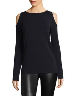 Cold Shoulder Wool Sweater