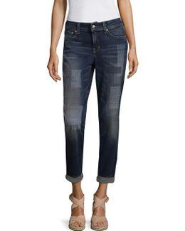 Boyfriend Shadow Patch Jeans