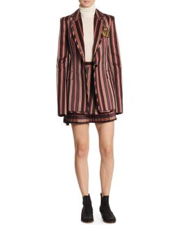 Folly Uniform Stripe Blazer