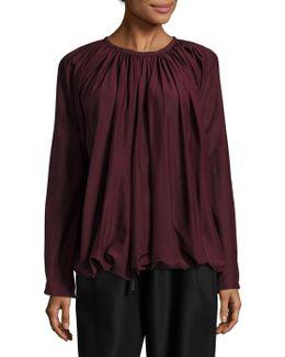 Silk Gathered Top