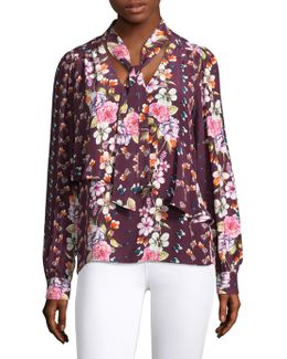 Kinsley Floral Silk Blouse