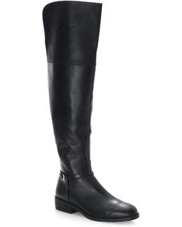 Valentia Leather Over-the-knee Boots