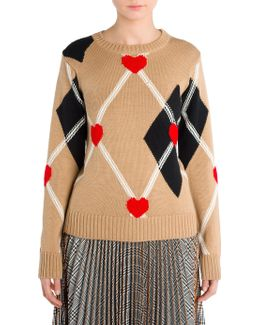 Heart Argyle Sweater