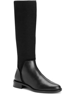 Nicolette Stretch Leather Boots