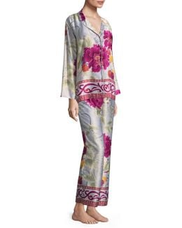 Floral Buttoned Pajamas