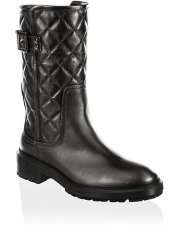 Layla Quilted Leather Boots