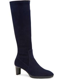 Dahlia Stretch-suede Knee-high Boots