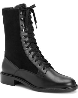 Brynn Leather & Suede Combat Boots