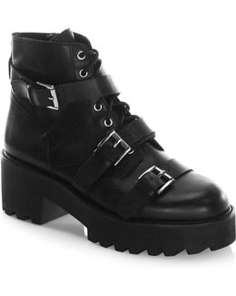 Razor Leather Stacked Boots