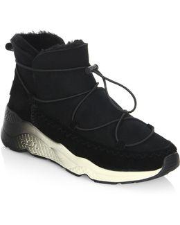 Mitsouko Shearling Sneaker Booties