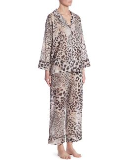 Animal-print Cotton Pajama Set