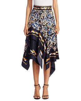 Silk Twill Scarf Skirt