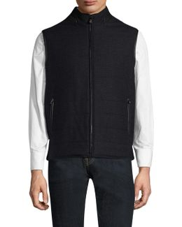 Quilted Stand Collar Vest