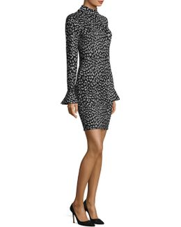 Patterned Fitted Dress