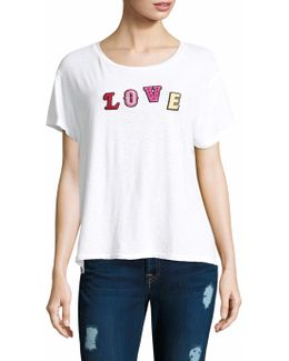 Love Patch Cotton Tee