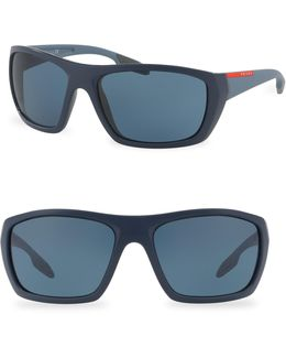61mm Wrap Sunglasses