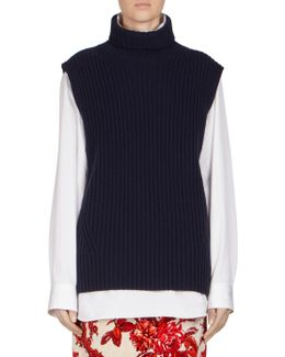 Wool Turtleneck Vest