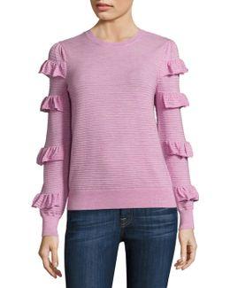 Ruffle Wool Sweater
