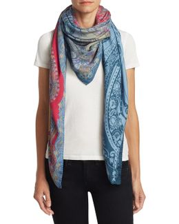 Ombre Paisley Scarf