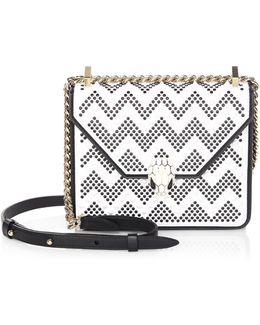X Nicholas Kirkwood Serpenti Forever Studded Leather Chain Crossbody Bag