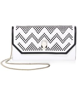 X Nicholas Kirkwood Serpenti Forever Studded Leather Chain Clutch