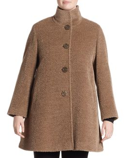 Four Button Alpaca Coat