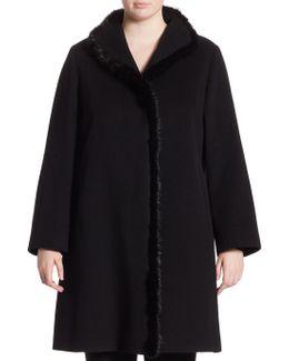 Fur Trim Walker Coat