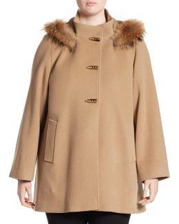 Hooded Duffle Fur Car Coat