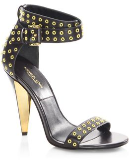 Niki Runway Leather Ankle-strap Sandals